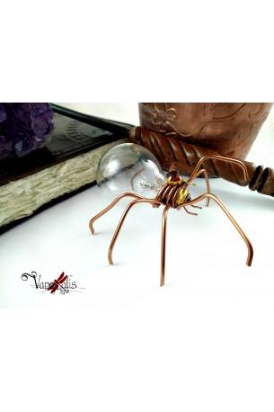Araignée ampoule Steampunk