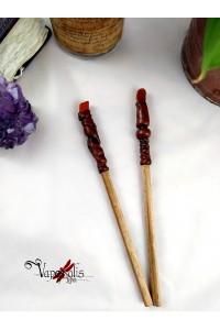 Baguette crayon gemme bois rouge