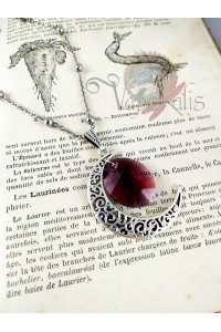Collier Moon - Leaf pourpre